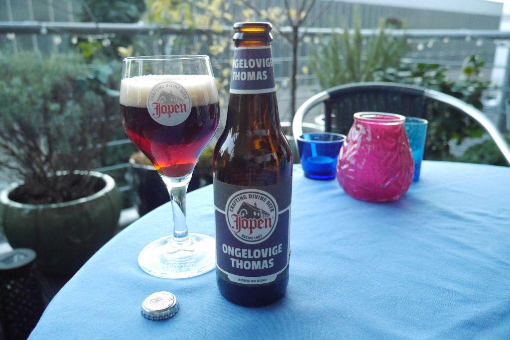 Jopen Ongelovige Thomas Glas und Flasche