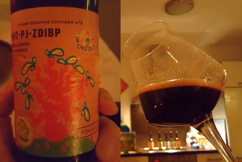 Etikett und Glas Planet Ödipus ZDIBP
