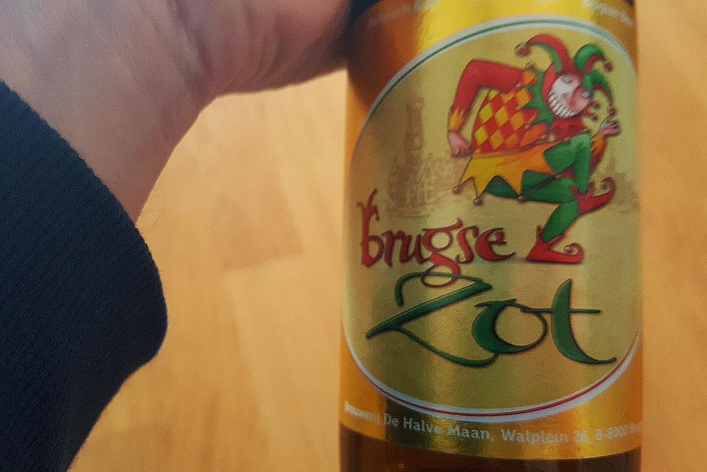 Flasche Brugse Zot Etikett