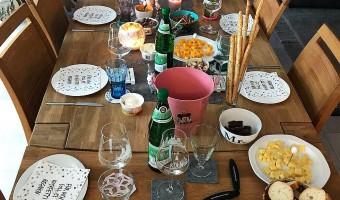 Biertasting Tisch