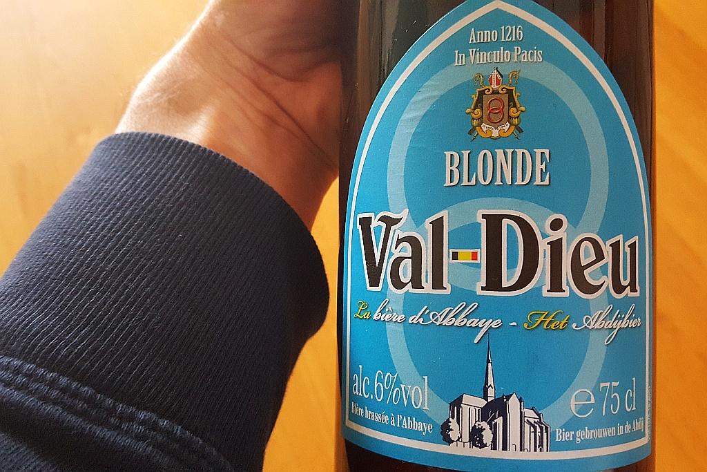 Val Dieu Blonde Flasche Etikett