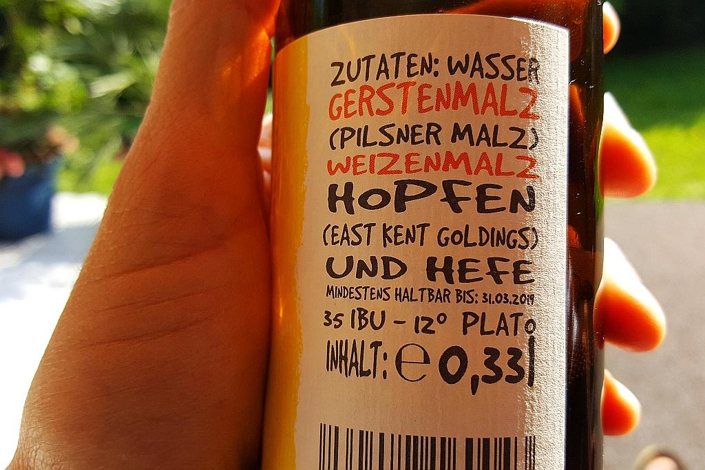 Etikett Zutaten Ale Mania