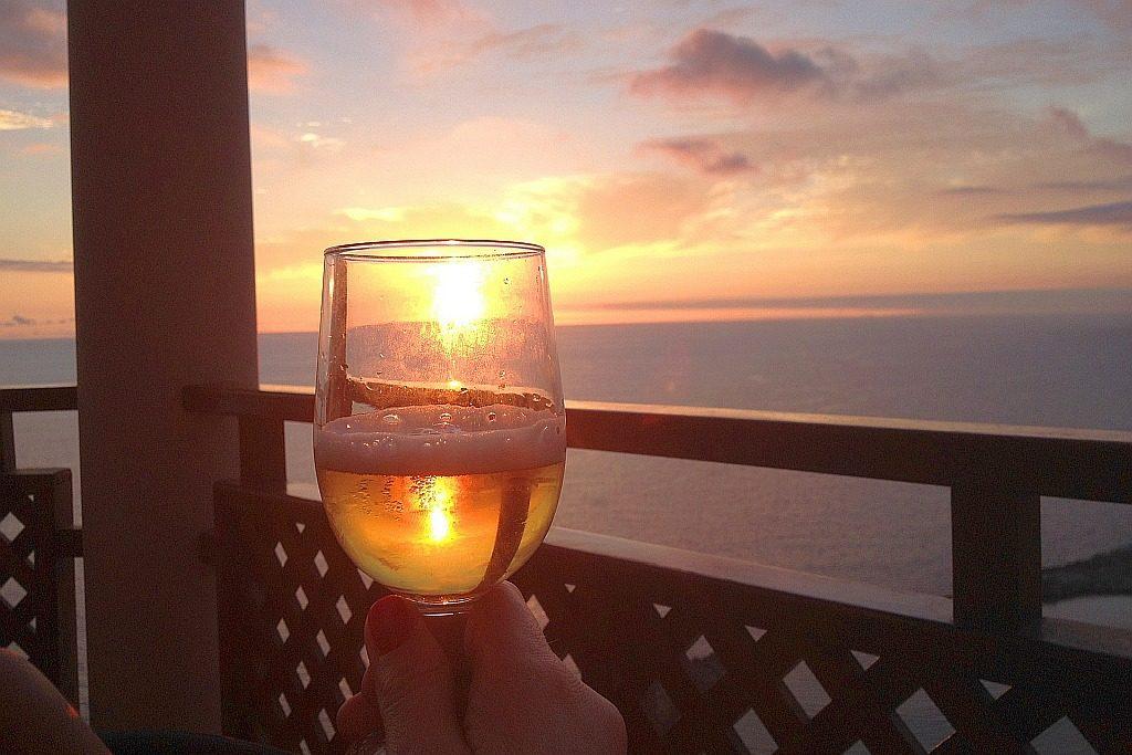Sonnenuntergang Witbier Glas