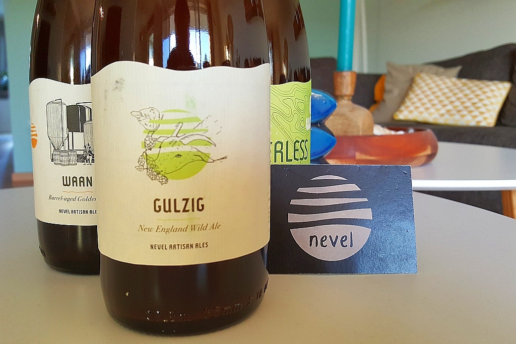 Etiketten Bierflaschen Nevel