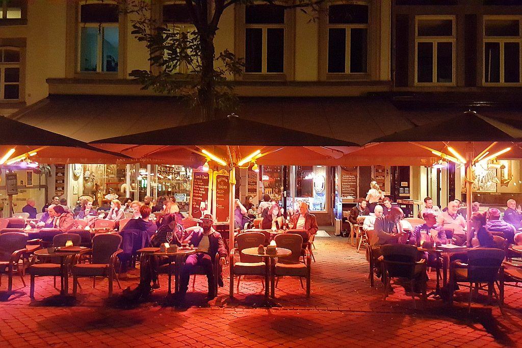 Abendstimmung Maastricht Biercafe