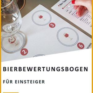 Bierbewertungsbogen für Bierverkostung zuhause