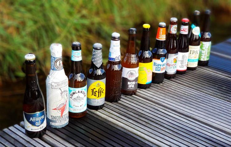 verschiedene alkoholfreie Bier