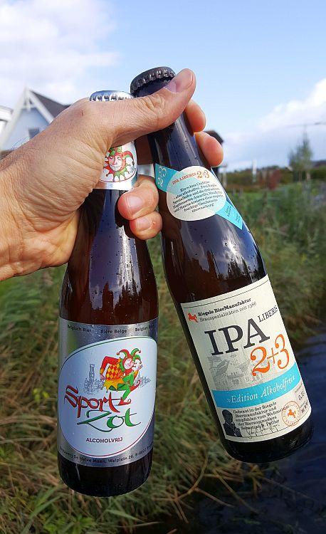 Brugse Zot Sport und Riegele IPA alkoholfrei