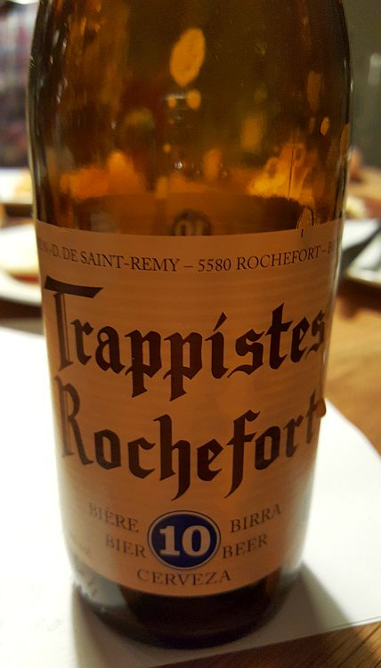Etikett Flasche Rochefort 10