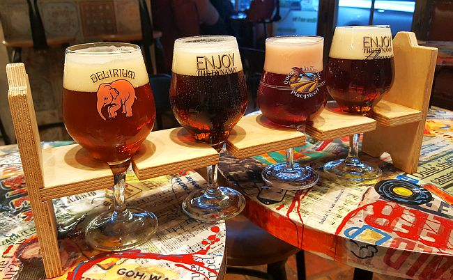 Proefbord Biercafe Cambrinus Brügge