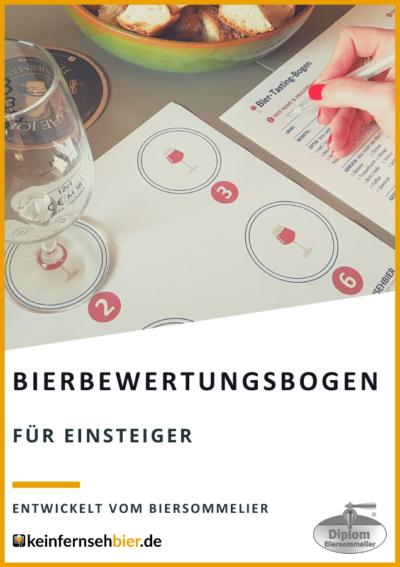 Bierbewertungsbogen für bis zu 12 Biere